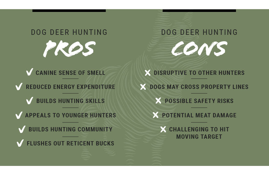 pros and cons dog deer hunting