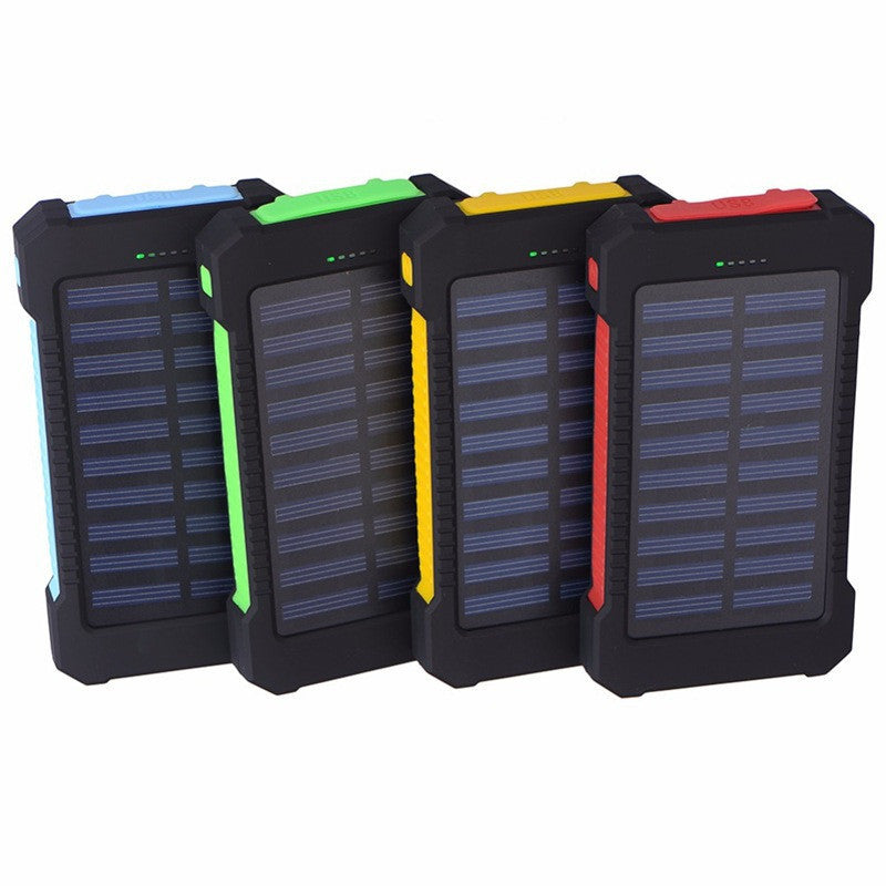 10,000 mAh Battery Pack with Built-In Solar Charger