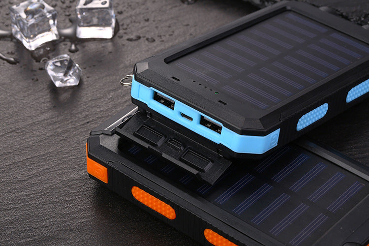 20,000 mAh Battery Pack with Built-In Solar Charger