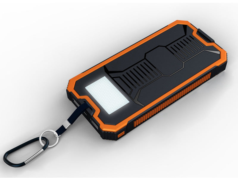 8,000 mAh Battery Pack with Built-In Solar Charger