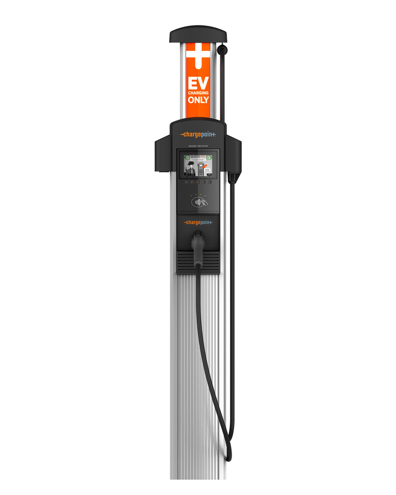ChargePoint CT4011 Level 2 EV Charger - Single Output, Bollard Mount