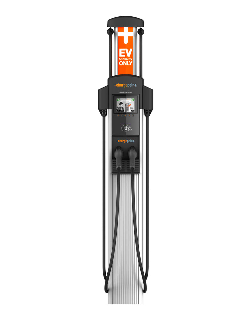 ChargePoint CT4021 Level 2 EV Charger - Dual Output, Bollard Mount