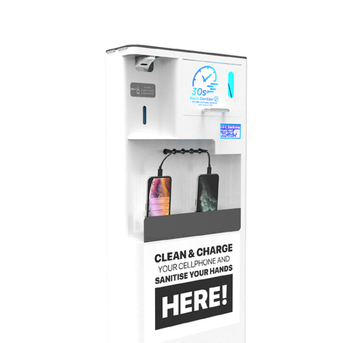 TRIO 3-In-1 Charging and Sanitizing Kiosk