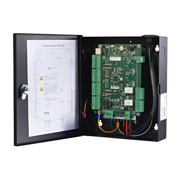 Two Door Access Control Panel with Ability to Utilize RS-485 or Wiegand Readers - Built-In Power Supply - TCP/IP Interface Allows Easy Programming Over the Network