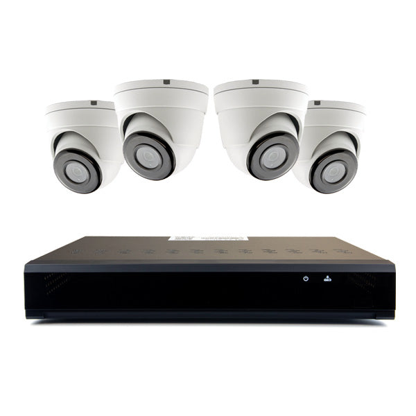 4 1MP AHD Security Cameras W/ 8 Channel DVR & 8 Camera Power Supply (4/8-AGKIT-IS)