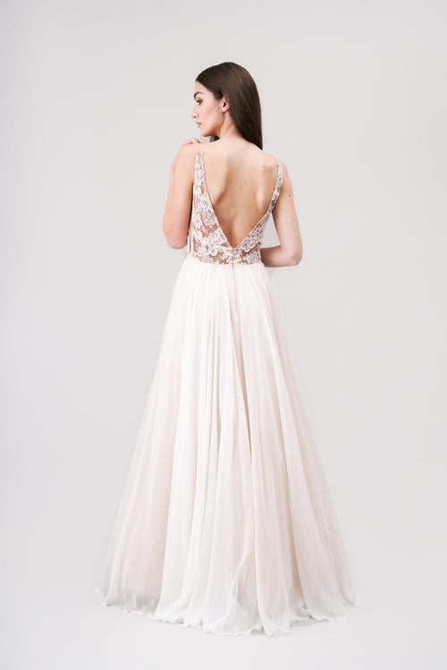 CHARLOTTE Bridal maxi lace dress