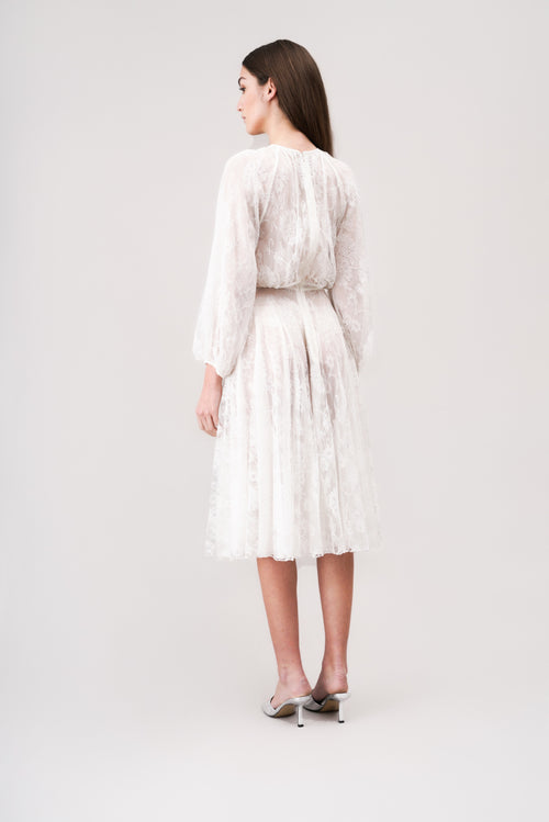 CLAIRE light lace dress