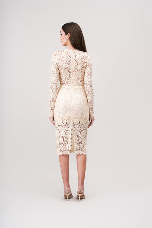 LEONIE Midi lace dress