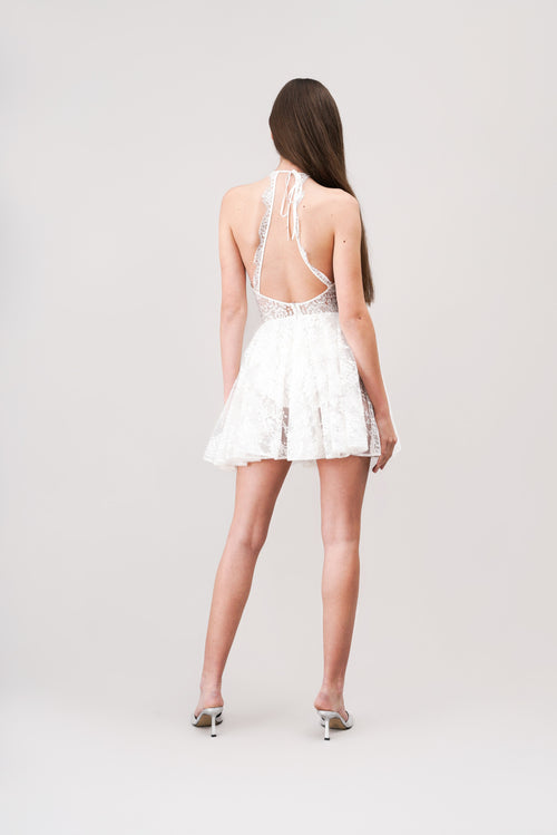 AYLA Bridal sheer lace dress
