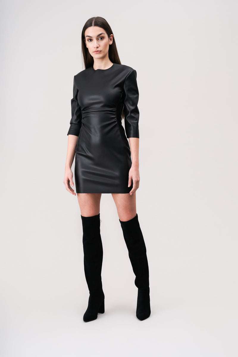FIONA Mini faux-leather dress