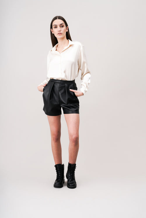 ROSIE Faux- leather shorts
