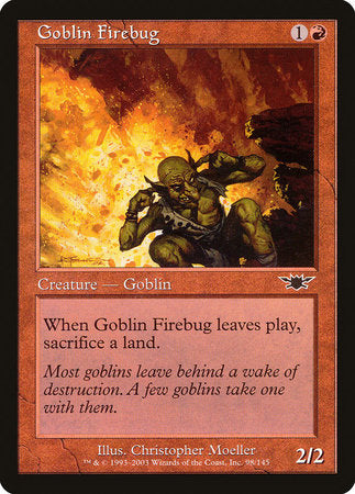Goblin Firebug [Legions] | Most Excellent Gaming