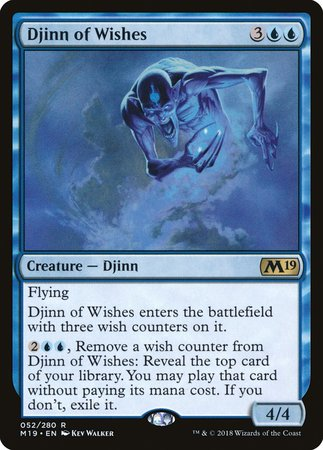 Djinn of Wishes [Core Set 2019] | Most Excellent Gaming