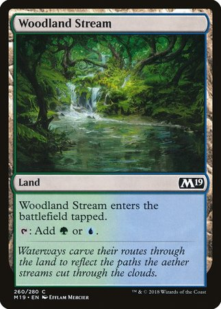 Woodland Stream [Core Set 2019] | Most Excellent Gaming