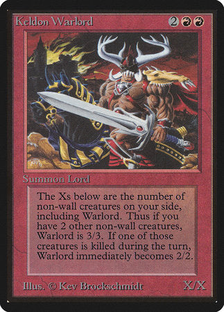 Keldon Warlord [Limited Edition Beta]