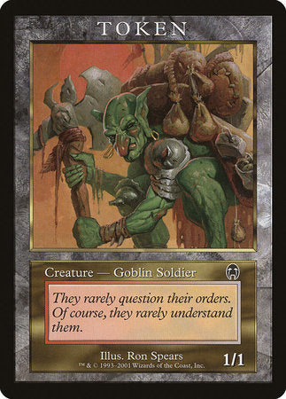 Goblin Soldier Token (Apocalypse) [Magic Player Rewards 2001]