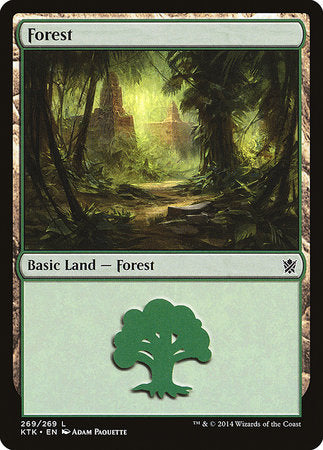 Forest (269) [Khans of Tarkir]