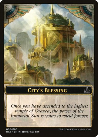 City's Blessing Token (006) [Rivals of Ixalan Tokens]