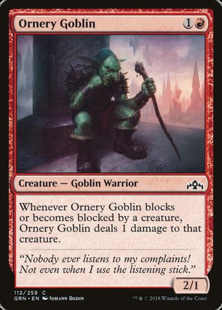 Ornery Goblin [Guilds of Ravnica]