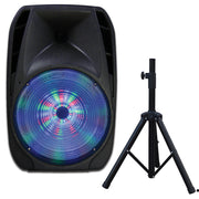 "15"" Professional Bluetooth Speaker with Tripod Stand"