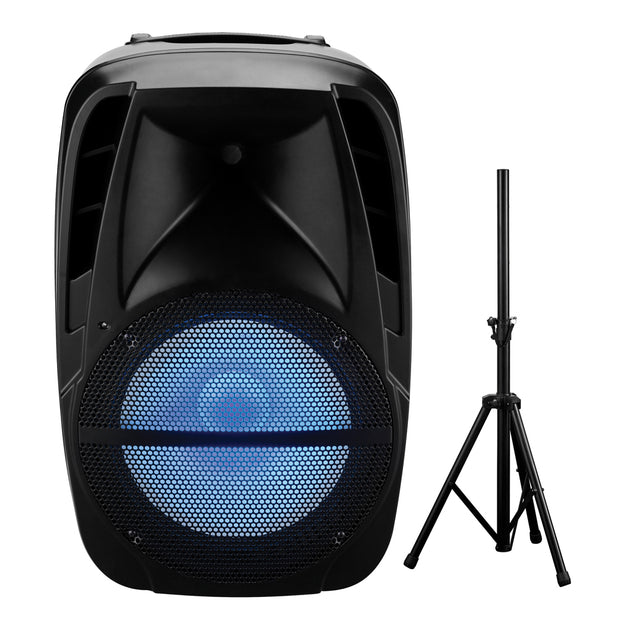 "15"" Portable Speaker with Stand and True Wireless Technology"
