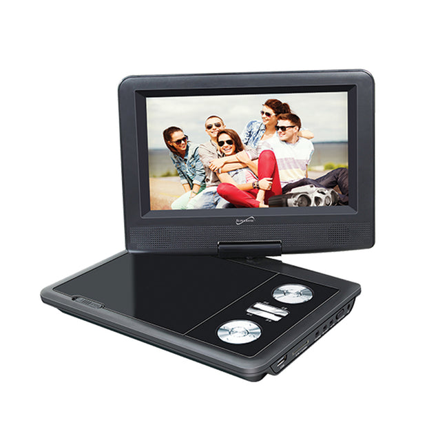 "7"" PORTABLE DVD PLAYER WITH DIGITAL TV, USB/SD INPUTS & SWIVEL DISPLAY"