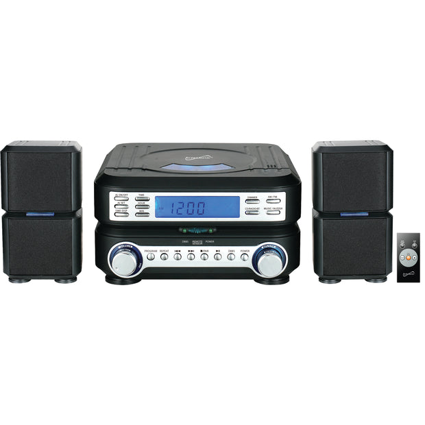 Portable Micro System with Bluetooth®, CD Player, AUX Input & AM/FM Radio