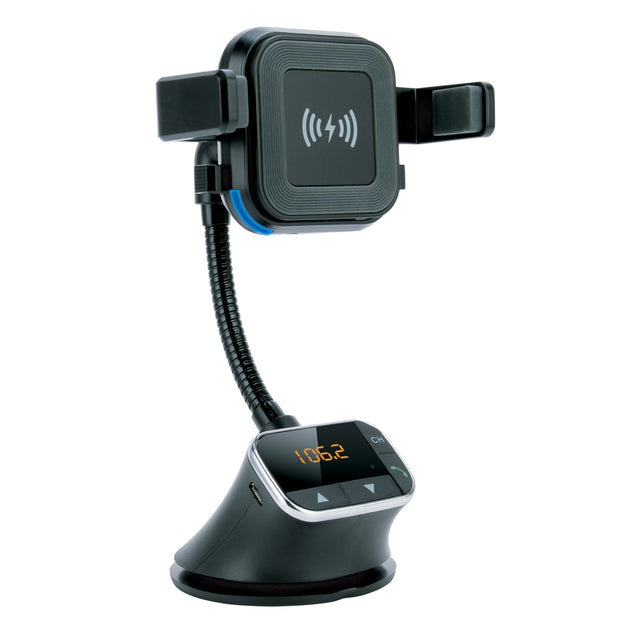 Wireless Charging Mount with Bluetooth Handsfree Car Kit