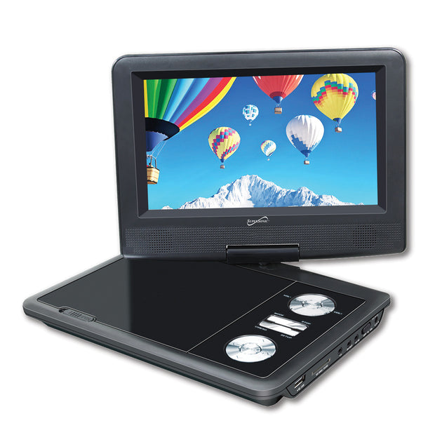 "7"" Portable DVD Player With USB/SD Inputs & Swivel Display"