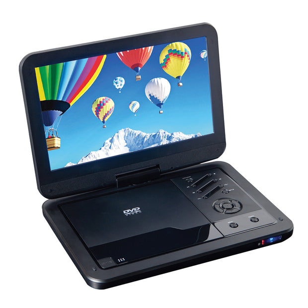 "10"" Portable DVD Player with USB/SD Inputs & Swivel Display"