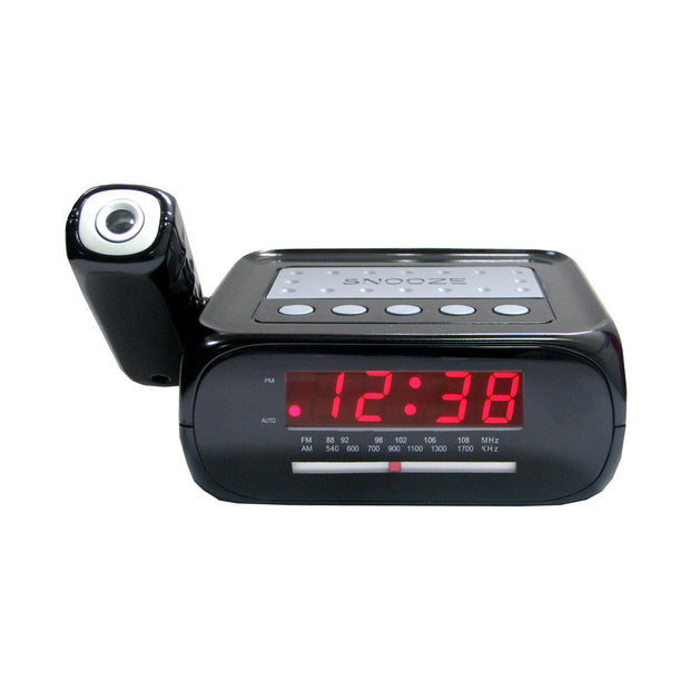 Digital Projection Alarm Clock with AM/FM Radio & AUX Input