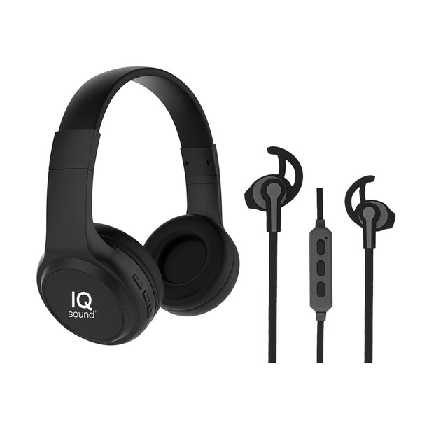 Wireless Bluetooth® Headphones & Earphones Combo Kit