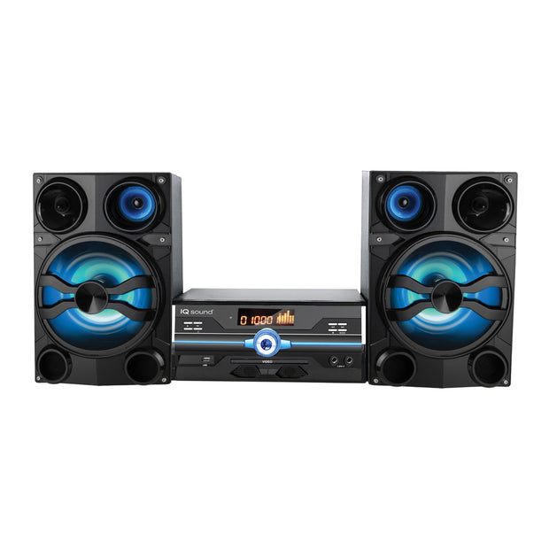HiFi Multimedia Audio System with Bluetooth, and AUX/USB/Mic Inputs