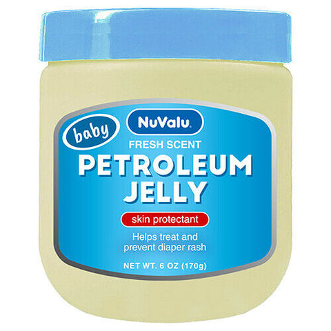 Nuvalu Petroleum Jelly Baby Fresh Scent 6 Oz x 6-Pack Facial BABY FRESH SCENT