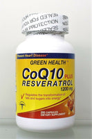 Co Q10 Plus Resveratrol 1200 mg 2 Bottles promotes Heart Health Exp 06-22 USA