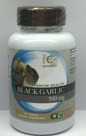 Nu-Health Black Garlic 500mg 50 Capsules Premium Quality Black Garlic Sealed usa