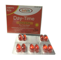 5 Pack Acetaminophen, Phenylephrine Dextromethorphan Day-time Relief 10 Softgels