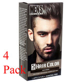 4Pack Dark Brown Hair Color Men's Select for men Permanent Hair Dye in 5 Minutes