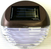 4Pack Solar Deck Lighting Wall Light Outdoor Wireless Solar Dock Step Road Light