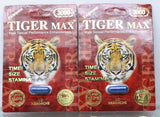 Male sexual performance enhancement by Tiger Max, Time+Size+Stamina 2 pack.