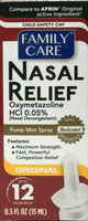 Nasal Spray Original Decongestant Pump Mist Spray 12 Hour Relief 0.5 oz (4 pack)