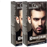 2Pack Dark Brown Hair Color Men's Select for men Permanent Hair Dye in 5 Minutes