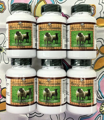 Nu-Health Sheep Placenta Complex 100 Capsules Dietary Supplement Pack of 6. USA.
