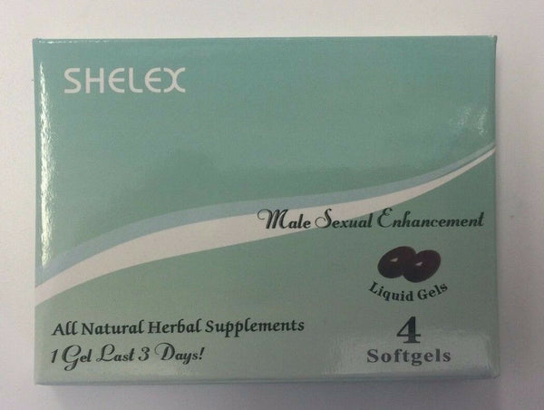 Shelex Male Sexual Enhancenenl Liquid Gels 4 Softgels, 1 for 3 Days, all Natural