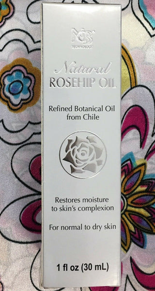 NCB Natural Rosehip Oil Refined Botanical Oil From Chile 30 ml Made in USA.