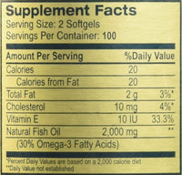 Golden Alaska Deep Sea Fish Oil Omega-3, 1000 Mg, 200 Capsules Pack of 3 by NCB