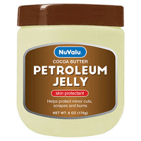 Nuvalu Petroleum Jelly Cocoa Butter 6 Oz. Pck of 2