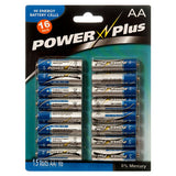 Battery AA 1.5V R6 Powercell (4-Pack) Hi Energy Battery Cells 64 Pieces Battery