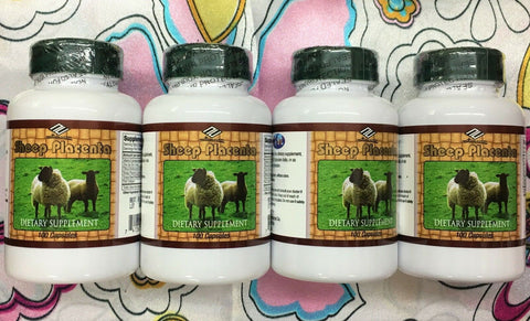 Nu-Health Sheep Placenta Complex 100 Capsules Dietary Supplement Pack of 4. USA.
