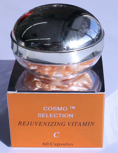 Cosmo Selection Rejuvenizing Vitamin-C Vitamin-E Skin Oil 60 Capsules Made In US